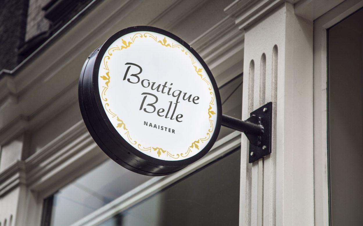 Boutique Belle deur gevelbord