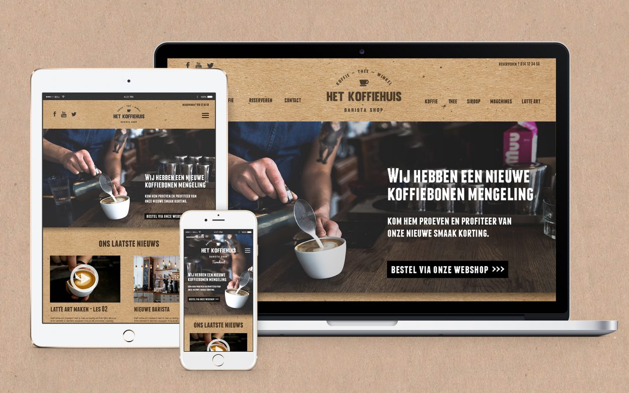 Het koffiehuis website