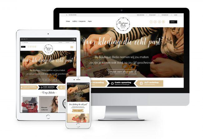 Boutique Belle website